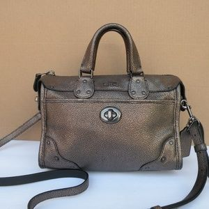 COACH RHYDER 24 METALLIC BAG